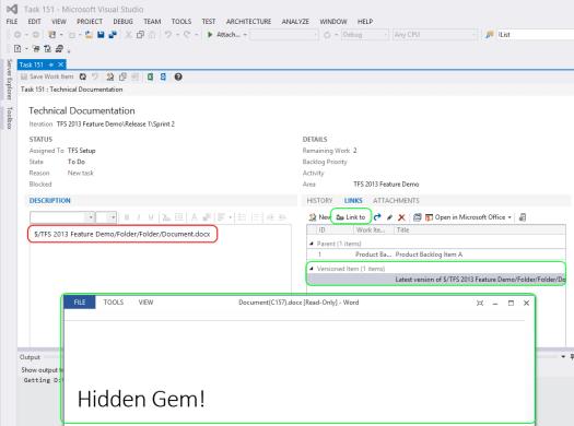 Hidden Gem 12 - Link to Versioned Item