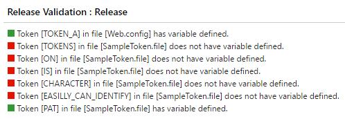 VSTS Token Comparer Summary