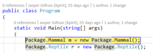 Packages Own Code